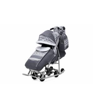 Санки-коляска Pikate Скандинавия серая