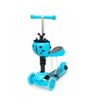 Самокат-беговел Scooter 3in1  голубой