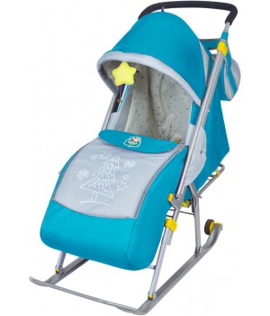 Санки-коляска Nika Ника Детям 4 (НД 4) бирюзовый