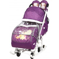 Санки-коляска Disney baby 2 Винни Пух баклажановый