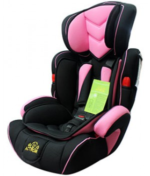 Автокресло группа 1/2/3 (9-36 кг) Actrum BXS-208 Розовый