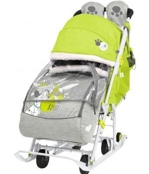 Санки-коляска Disney baby 2 с далматинцами лимонный