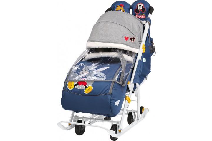 Санки-коляска Disney baby 2 Микки Маус синий