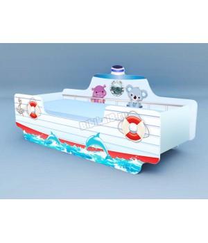 Детская кровать-корабль №3