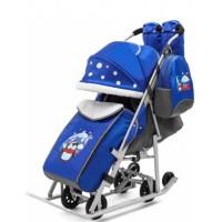 Санки-коляска Pikate Радуга синий