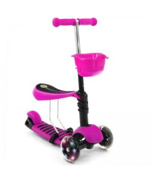 Самокат-беговел Scooter 3in1  розовый