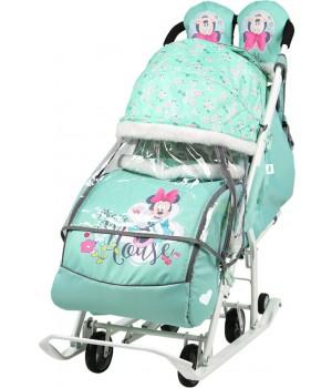 Санки-коляска Disney baby 2 Мини Маус мятный