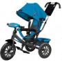 Детский трехколесный велосипед BMW с фарой и надувными колесами