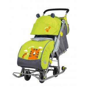 Санки-коляска Nika Ника Детям 7 (НД 7) Тигр
