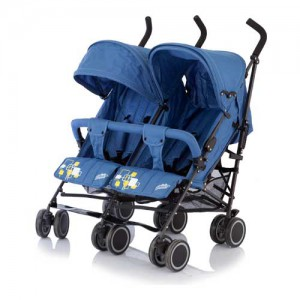 """Коляска для двойни """"Baby care Citi Twin"""" синий"""