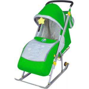 Санки-коляска Nika Ника Детям 4 (НД 4) зеленый