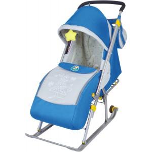 Санки-коляска Nika Ника Детям 4 (НД 4) синий
