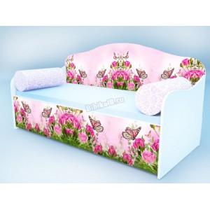 """Детский диван """"Бабочка в розах"""""""