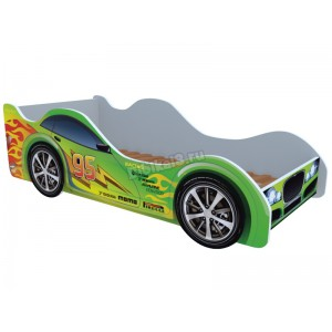 """Детская кровать-машина """"Зеленая молния"""""""