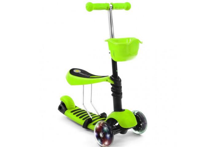 Самокат-беговел Scooter 3in1  зеленый