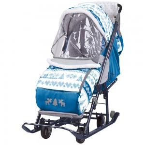 Санки-коляска Ника Наши детки (НДТ) скандинавия синий