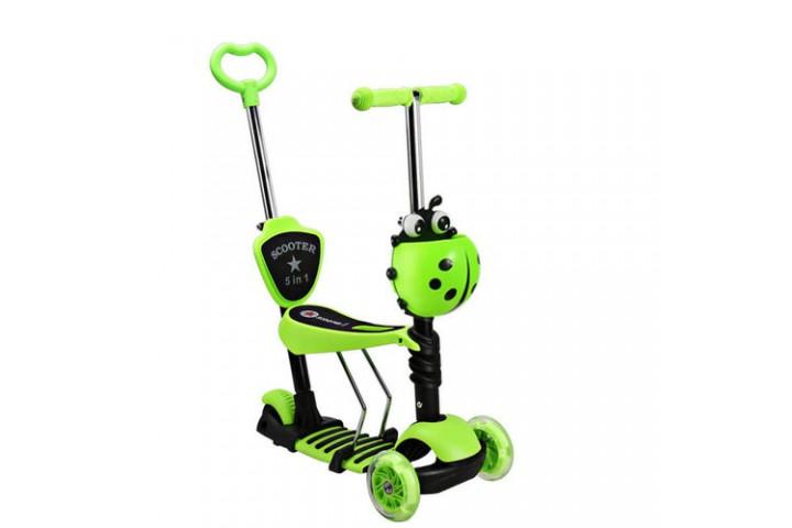 Самокат-беговел Scooter 5in1  зеленый