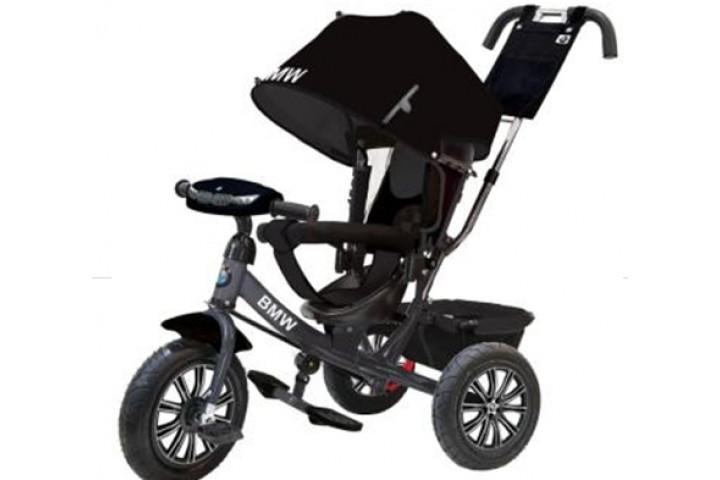Детский трехколесный велосипед BMW с фарой и надувными колесами АРТ. BMW-M-N1210