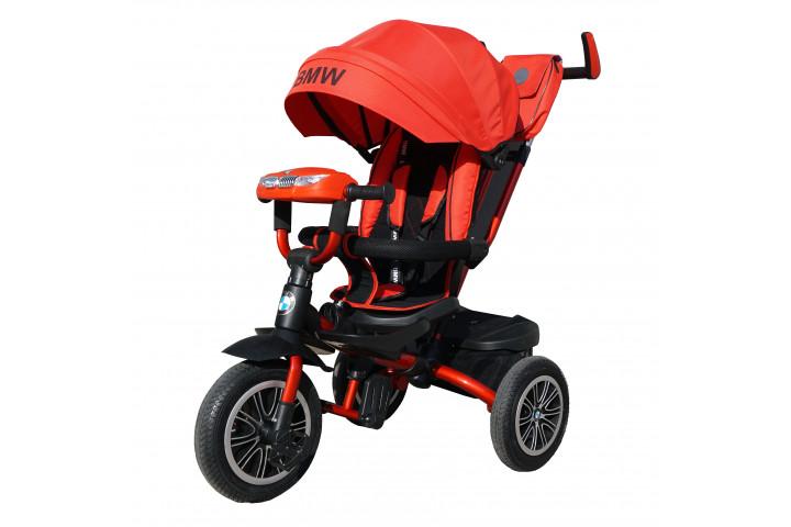 Детский трехколесный велосипед BMW с лежачим положением и фарой арт. BMW5S-M-N1210