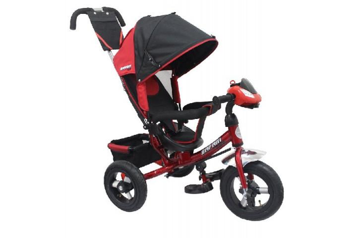 Детский трехколесный велосипед Safari trike с фарой и надувными колесами