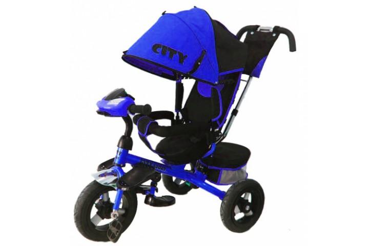Трехколесный велосипед CITY надувные колеса 12/10 дюймов
